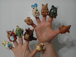 Видео мастер-класс: лепим пальчиковый театр зверюшек из глины. Ярмарка Мастеров - ручная работа, handmade.