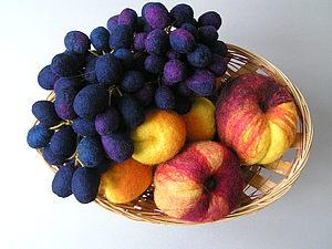 Создаем гроздь винограда в технике сухого валяния. Ярмарка Мастеров - ручная работа, handmade.
