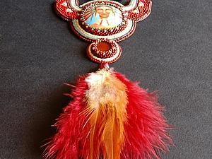 Мастерим подвески с перьями двумя способами. Ярмарка Мастеров - ручная работа, handmade.