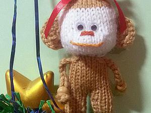 Вяжем забавную обезьянку. Ярмарка Мастеров - ручная работа, handmade.