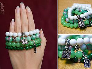 Скидки на браслеты  комплекты браслетов из натуральных камней! | Ярмарка Мастеров - ручная работа, handmade