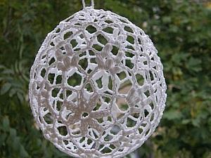 Создаем декоративные шары из вязаных салфеток. Ярмарка Мастеров - ручная работа, handmade.