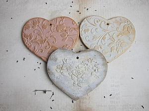 Текстурное сердечко - | Ярмарка Мастеров - ручная работа, handmade