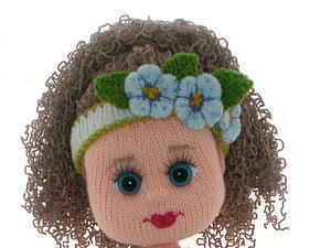 вышиваем губки вязаной куколке мастер класс для начинающих и