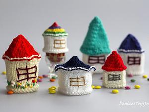 Вяжем пасхальные домики &#8212&#x3B; украшения для яиц. Ярмарка Мастеров - ручная работа, handmade.