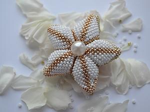 Цветок из бисера | Ярмарка Мастеров - ручная работа, handmade