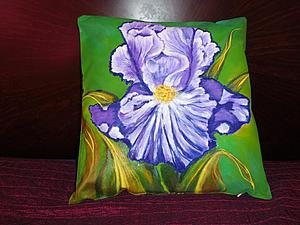 Рисуем ирис на декоративной подушке, первая часть. Ярмарка Мастеров - ручная работа, handmade.
