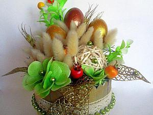 Мастерим корзинку для цветочной композиции. Ярмарка Мастеров - ручная работа, handmade.