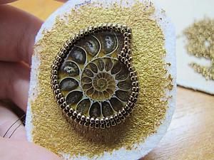 Вышиваем бисерную оправу для аммонита | Ярмарка Мастеров - ручная работа, handmade