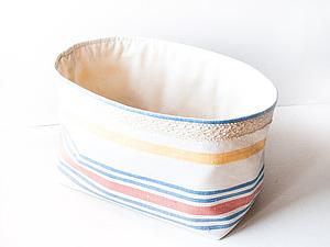 Мастер-класс для начинающих: простой текстильный органайзер (корзинка). Ярмарка Мастеров - ручная работа, handmade.