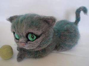Валяем чеширского кота. Ярмарка Мастеров - ручная работа, handmade.