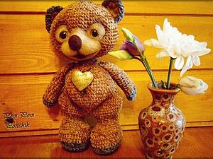 Мастер-класс по вязанию крючком велюрового медвежонка Пончика с приваляной мордочкой. Ярмарка Мастеров - ручная работа, handmade.