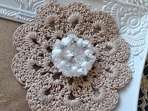 Создаем плетеный элемент для колье. Ярмарка Мастеров - ручная работа, handmade.