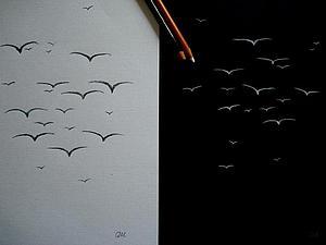 Диптих птицы теперь за 500 р!!!!!   Ярмарка Мастеров - ручная работа, handmade