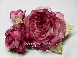 Ручная работа. цветы из ткани