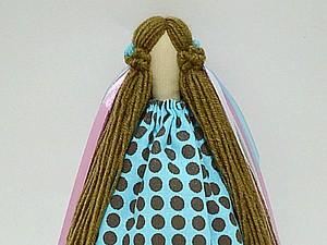 Делаем прическу для тильды из пряжи | Ярмарка Мастеров - ручная работа, handmade