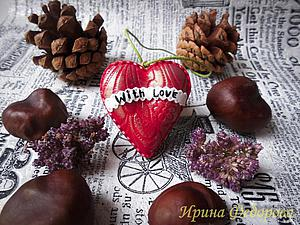 Лепим валентинку «Алое сердце» из полимерной глины. Ярмарка Мастеров - ручная работа, handmade.