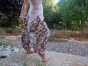 Аукцион N18 - Штаны-афгани, али-баба, алладины цветочные | Ярмарка Мастеров - ручная работа, handmade