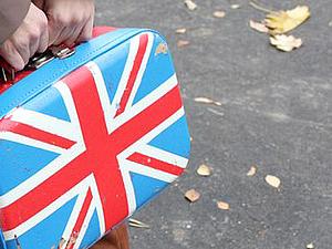 Чемодан с британским флагом. Ярмарка Мастеров - ручная работа, handmade.