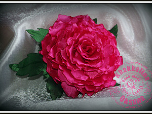 Flower Design цветы из ткани: две розы в мягкой технике | Ярмарка Мастеров - ручная работа, handmade