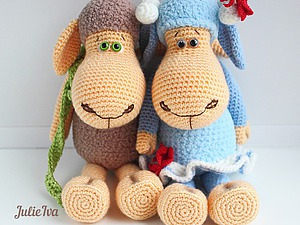 Мастер-класс по вязанию овечки. Ярмарка Мастеров - ручная работа, handmade.