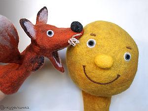 Лисичка и Колобок в рекламном ролике | Ярмарка Мастеров - ручная работа, handmade