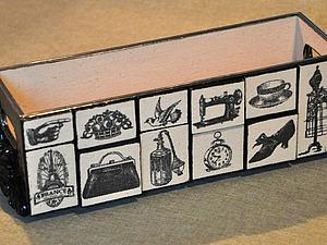 Декорируем короб для мелочей «Ателье в Париже». Ярмарка Мастеров - ручная работа, handmade.