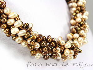 Эффектное ожерелье из жемчуга за пять минут   Ярмарка Мастеров - ручная работа, handmade