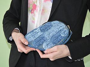 Шьем клатч «Крыло» из джинсовой ткани. Ярмарка Мастеров - ручная работа, handmade.