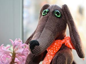 Текстильная игрушка «Такса». Ярмарка Мастеров - ручная работа, handmade.