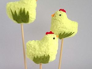 Делаем цыпляток для украшения пасхальных куличей. Ярмарка Мастеров - ручная работа, handmade.