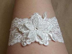Шьем свадебную подвязку без резинки. Ярмарка Мастеров - ручная работа, handmade.