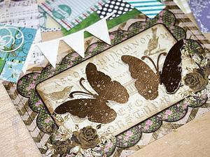Видео мастер-класс по скрапбукингу: делаем бабочки. Ярмарка Мастеров - ручная работа, handmade.