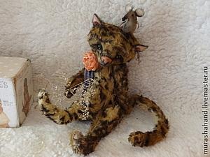 Аукцион на Тедди котика, заканчивается сегодня   Ярмарка Мастеров - ручная работа, handmade