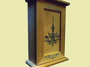 Старинная ключница с гравюрой   Ярмарка Мастеров - ручная работа, handmade