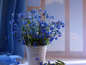 Голубой цвет в интерьере | Ярмарка Мастеров - ручная работа, handmade