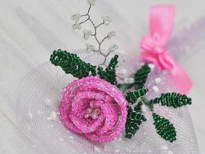 Мастер-класс  по Бисероплетению Маленькая Композиция с Розой | Ярмарка Мастеров - ручная работа, handmade