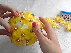 Видео мастер-класс: создаем декоративный шар из лепестков малбери. Ярмарка Мастеров - ручная работа, handmade.