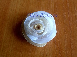 Цветок из органзы мягкий | Ярмарка Мастеров - ручная работа, handmade