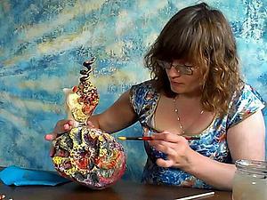 уроки папье-маше Татьяны Молодой - улитка Жульетта | Ярмарка Мастеров - ручная работа, handmade