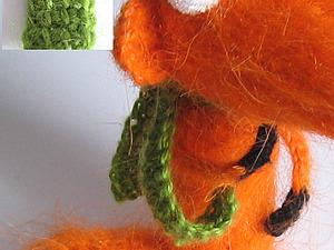 Шарфик крючком для игрушек (тунисское вязание). | Ярмарка Мастеров - ручная работа, handmade