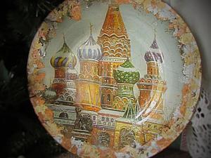 Мастер-класс: тарелка сувенирная «Моя Москва» в технике обратного декупажа | Ярмарка Мастеров - ручная работа, handmade