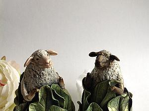 Овечки в листьях к Новому году!   Ярмарка Мастеров - ручная работа, handmade
