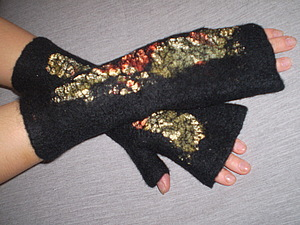 МК валяние варежек или митенок | Ярмарка Мастеров - ручная работа, handmade