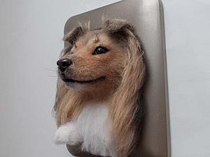 Новый образ Панно собаки шелти | Ярмарка Мастеров - ручная работа, handmade