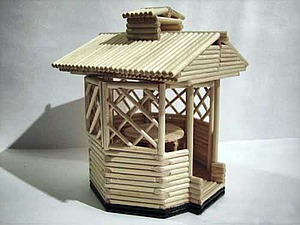 Делаем сувенирную беседку из деревянных палочек. Ярмарка Мастеров - ручная работа, handmade.