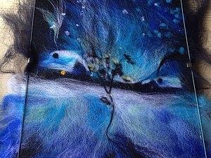 Красивейший мастер-класс  по живописи цветной шерстью   Ярмарка Мастеров - ручная работа, handmade