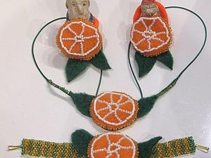 Делаем «Апельсинки-витаминки» — украшение из флиса и бисера для девочки. Ярмарка Мастеров - ручная работа, handmade.