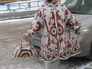 Пальто для Снегурочки | Ярмарка Мастеров - ручная работа, handmade