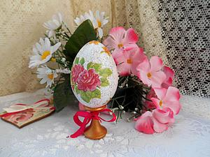 Декупаж пасхального яйца: метод одношагового кракелюра. Ярмарка Мастеров - ручная работа, handmade.